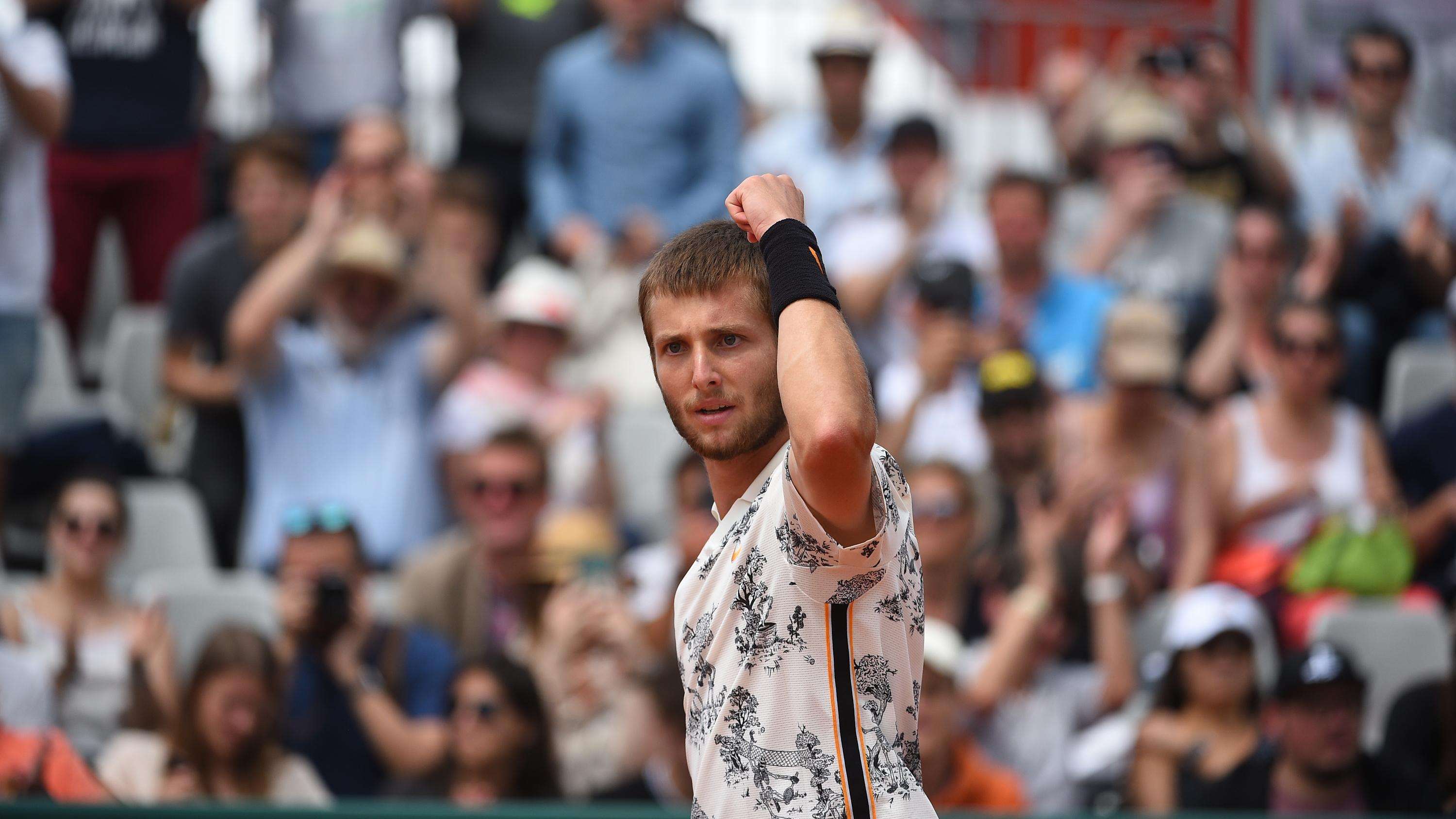 Corentin Moutet, Roland Garros 2019, Simple Messieurs, 1er Tour